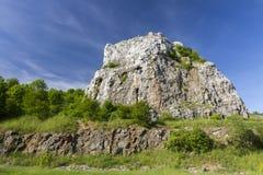 Polish Jurassic Highland. Hilly landscape with Jurassic limestone rocks Stock Photo