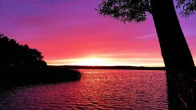 Polish lake. Early summer in Poland, warm and nice, sunset time royalty free stock photos