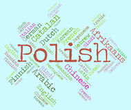 Polish Language Shows Vocabulary Word And Lingo. Polish Language Meaning Dialect Vocabulary And Communication vector illustration