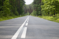 Polish local road Stock Images