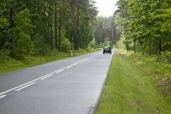 Polish local road Royalty Free Stock Photos