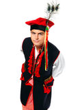 Polish man in a traditional outfit Royalty Free Stock Image