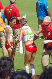 Polish marathon runners at Rio2016 Stock Photos