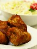 Polish meatballs and a salad Stock Image