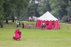 Polish medieval war camp Royalty Free Stock Image