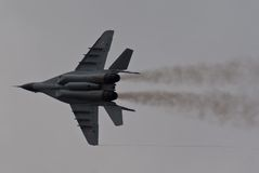 Polish MiG-29. Fulcrum during Volkel Open Dag Royalty Free Stock Images