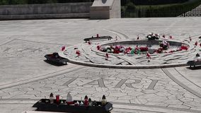 Polish military cemetery of Montecassino stock video