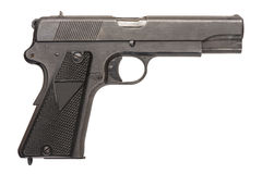 Polish Military Pistol. A Polish 9mm semi-automatic military pistol from World War Two Stock Images