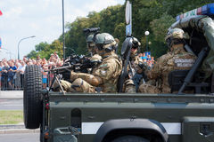 Polish Military Police Stock Photo
