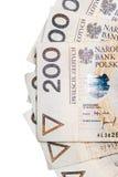 Polish money. A lot of polish money Royalty Free Stock Images