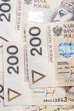 Polish money. A lot of polish money Royalty Free Stock Photos