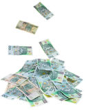 Polish money. Lots of Polish money - 100pln banknotes, isolated on white background Stock Image
