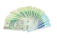 Polish money. Banknotes 100 and 50 PLN. The Polish money Royalty Free Stock Image