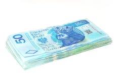 Polish Money. Banknotes 50 PLN. The Polish money Royalty Free Stock Photos