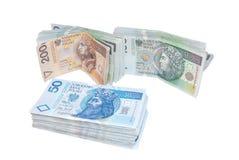 Polish money. Banknotes 50, 100, 200 PLN. The Polish money Stock Photography