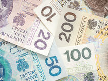 Polish money abstract Royalty Free Stock Photo