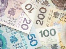 Polish money abstract Royalty Free Stock Photo