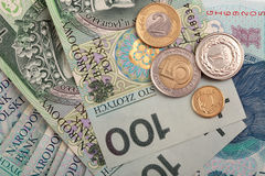 Polish money background Stock Photos