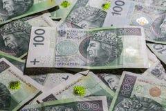 Polish money background Stock Photography