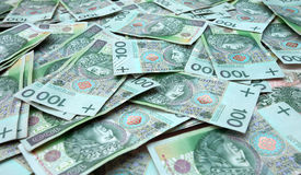 Polish money, background Royalty Free Stock Photo