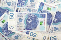 Polish money, a background Royalty Free Stock Photography