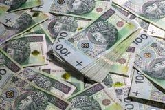 Polish money background Royalty Free Stock Photos