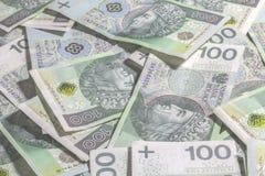 Polish money background. Royalty Free Stock Photography