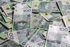 Polish money background Royalty Free Stock Images