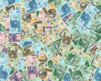 Polish money bank notes. Polish money a lot of bank notes Stock Images