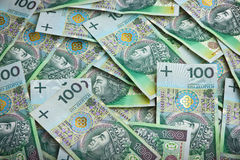 Polish money banknotes Royalty Free Stock Photos
