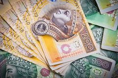 Polish money banknotes Royalty Free Stock Photo