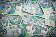 Polish money banknotes Royalty Free Stock Images