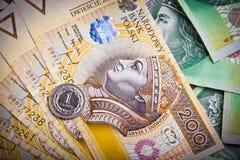 Polish money banknotes Royalty Free Stock Photography