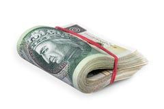 Polish Money Bunch royalty free stock images