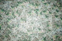 Polish money. In denominations of 100 zloty PLN Royalty Free Stock Photography