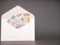 Polish money envelope Royalty Free Stock Photography