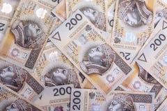 Polish money, financial background. Stock Images
