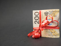 Polish money gift Royalty Free Stock Photos