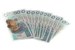 Polish money isolated Royalty Free Stock Photography