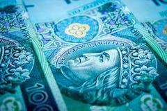 Polish money, one hundred Polish zloty.  stock images