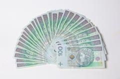 Polish money - PLN isolated on white background Stock Images