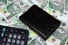 Polish money salary Stock Images