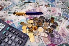 Polish money salary Royalty Free Stock Photos