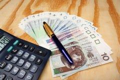 Polish money salary Stock Photo