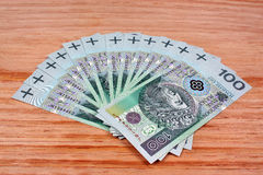 Polish money salary Royalty Free Stock Photo
