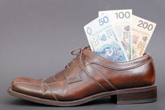 Polish money to go Stock Photography
