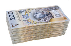 Polish money two hundred zloty Royalty Free Stock Photography