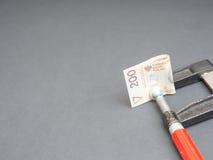 Polish money in a vice Stock Photos