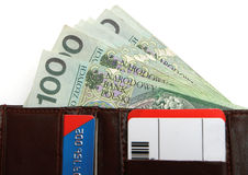 Polish Money in wallet Stock Photo