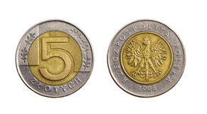 The Polish money (zloty) Stock Photos